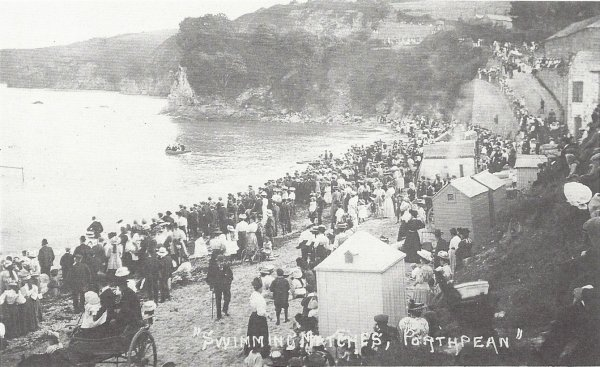 historical swimming matches in Porthpean